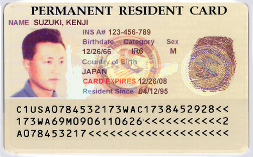 ... my class of admission on my permanent resident card? | Yahoo Answers